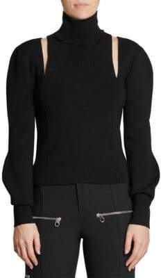 Chloé Superfine Merino Cut-Out Turtleneck Sweater