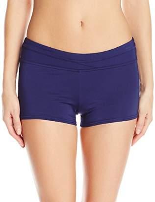 Jag Women's Solid Boyleg Swimsuit Bikini Bottom