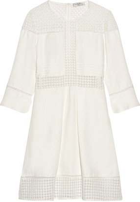 Sandro Lace-paneled twill mini dress $625 thestylecure.com