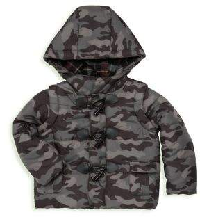 Andy & Evan Little Boy's Camo Convertible Puffer Jacket