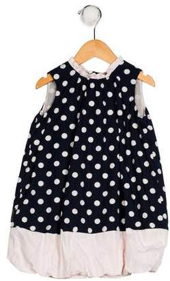Armani Junior Girls' Polka Dot Dress