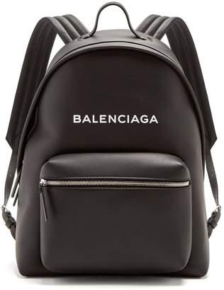 Balenciaga Everyday logo-print leather backpack