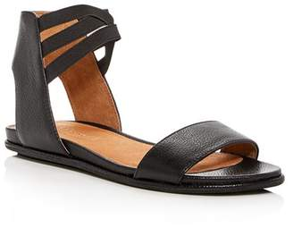 Kenneth Cole Gentle Souls by Gentle Souls Women's Lark-May Leather Ankle Strap Demi Wedge Sandals