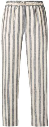 Twin-Set striped regular fit trousers
