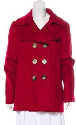 Burberry House Check Wool-Blend Short Coat