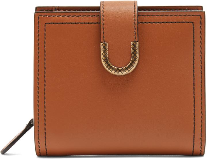 Bottega VenetaBOTTEGA VENETA Contrast-stitch leather wallet