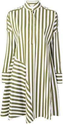 Akris Punto striped flared shirt dress