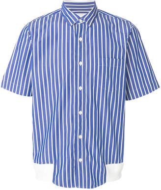 Sacai striped short sleeve shirt