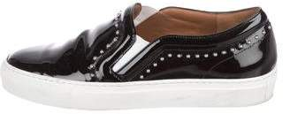 Givenchy Patent Leather Studded Slip-On Sneakers