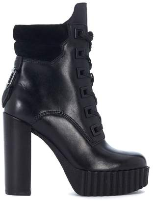 KENDALL + KYLIE Kendall+kylie Koty Black Leather And Suede Ankle Boots