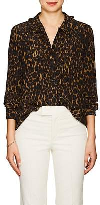 Masscob Women's Jaden Leopard-Print Silk Blouse