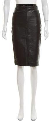 Camilla And Marc Leather Pencil Skirt