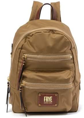 Frye Ivy Mini Nylon Leather Trimmed Backpack