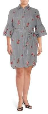 Calvin Klein Plus Belted Shirtdress