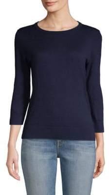 Saks Fifth Avenue Cotton, Silk & Cashmere Blend Crewneck Sweater