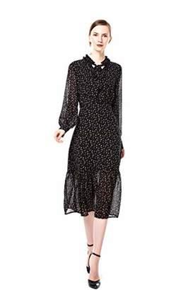 4d99650ea5a Blue Rainbow Women Long Sleeve Dress Casual Long Jacquard Dresses (XL)