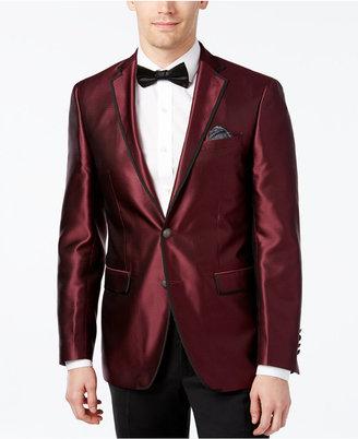Tallia Men's Slim-Fit Burgundy Pindot Evening Jacket $350 thestylecure.com