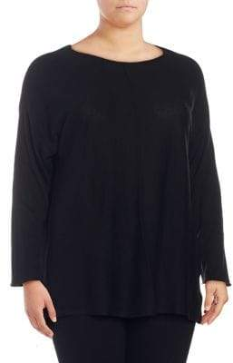 Context Plus Pleated High-Low Pullover