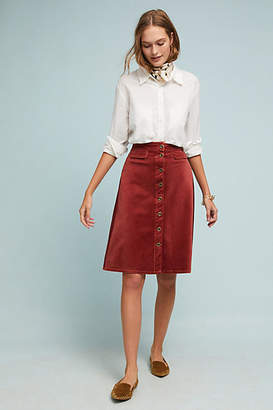 Anthropologie Corduroy Skirt
