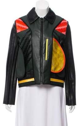 Martina Spetlova Paneled Leather Jacket w/ Tags