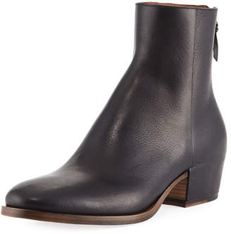 Givenchy GB3 Back-Zip Leather Ankle Boot