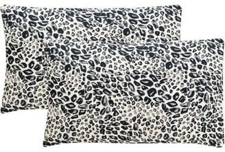 Safavieh Satin Leopard Pillow, Set of 2