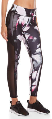 Andrew Marc Performance Printed Mesh Trim Compression Leggings