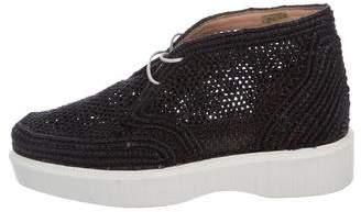 Robert Clergerie Raffia High-Top Sneakers