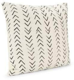 Saks Fifth Avenue Handspun African Mud Cloth Throw Pillow