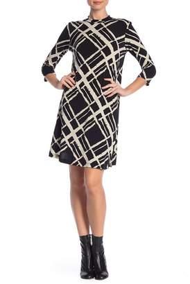 TASH + SOPHIE Mock Neck Printed Dress