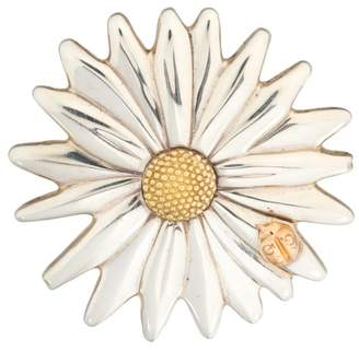 Tiffany & Co. 18K and Sterling Silver Flower Pin Brooch