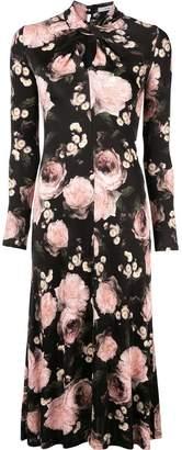 Erdem rose print midi dress
