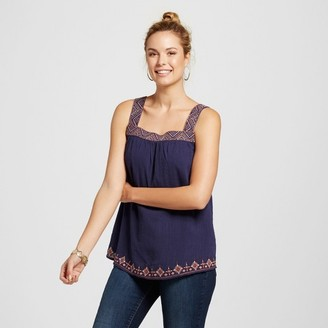 Knox Rose Women's Embroidered Square Neck Tank $22.99 thestylecure.com