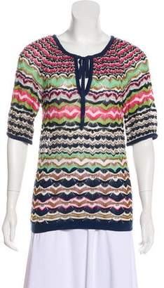 Missoni Short Sleeve Knit Top