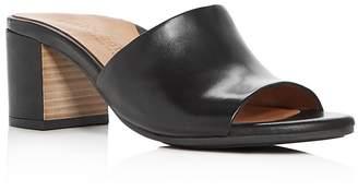 Kenneth Cole Gentle Souls Women's Chantel Leather Block Heel Slide Sandals