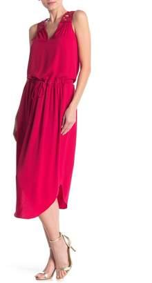 Ramy Brook Vivianne Embroidered Lace-Up Waist Midi Dress
