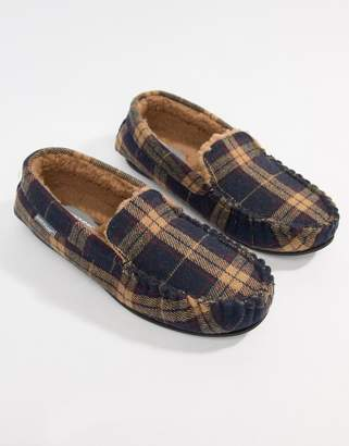 Dunlop Check Moccasin Slipper