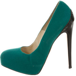 Brian Atwood Round-Toe Woven Pumps $100 thestylecure.com