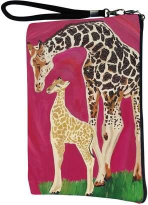 Original Penguin Salvador Kitti Polar Bear Large Vegan Wristlet, Pencil Bag, Cosmetic Bag - From My Original Paintings - Support Wildlife Conservation, Read How