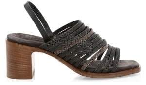 Brunello Cucinelli Block Heel Multi-Strap Sandals