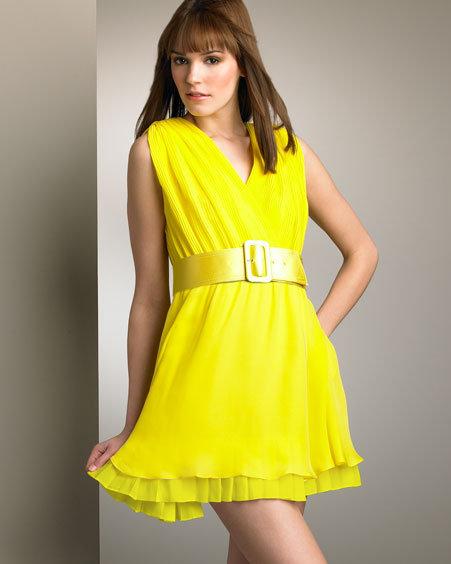 Alice + Olivia Pleated-Trim Silk Dress