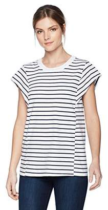 Stateside Women's Stripe Flare Short Sleeve Tee