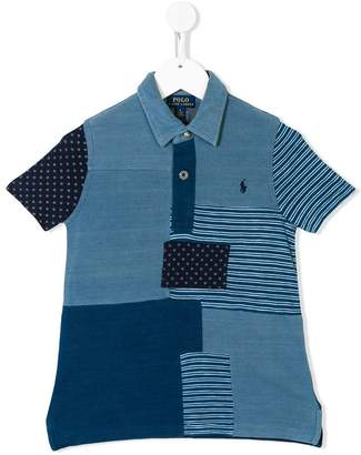 Ralph Lauren Kids patchwork polo shirt