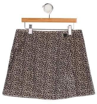 Junior Gaultier Girls' Leopard Print Skirt w/ Tags