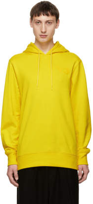 Y-3 Yellow Logo Classic Hoodie