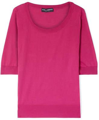Dolce & Gabbana Silk Sweater - Magenta
