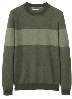 Mango man MANGO MAN Contrasting stripe knitted sweater