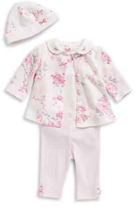 Little Me Baby Girl's Four-Piece Bow Cotton Set