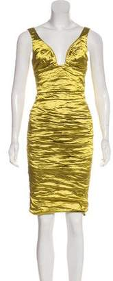 Nicole Miller Metallic Knee-Length Dress w/ Tags