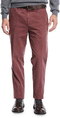 Men's Cotton Flat-Front Pants